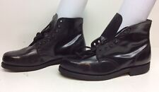 MENS SEARS WORK LEATHER BLACK BOOTS SIZE 10.5 D