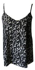 Ladies Vest Top With Straps Leopard Print Size 8 Ideal For Summer Casual Primark
