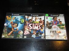 Nintendo GameCube Lot Of 3 COMPLETE Games - Tak 2, FIFA 06, The Sims