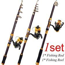 Fishing Rod & Reel Combos Telescopic Saltwater Freshwater Spinning Pole Metal
