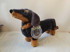 "Melissa & Doug Plush Dachshund Stuffed Animal Standing Black Brown #4854 - 15"""