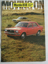 Mazda 818 OH Cam Power brochure c1971