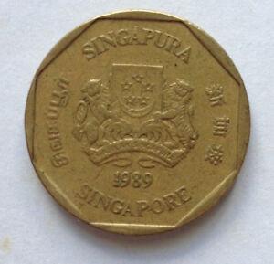 Singapore $1 coin 1989