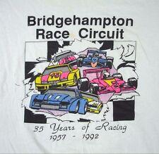 Bridgehampton Race Circuit 35 years of Racing 1957 - 1992 White T-Shirt Sz L