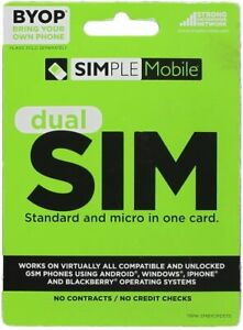 Simple Mobile BYOP Dual SIM Card for T-Mobile