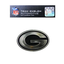 NFL Green Bay Packers Plastic Chrome Emblem Decal Size Aprx. 3 1/4 x 2 inches