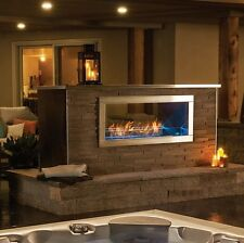NEW NAPOLEON GALAXY GSS48ST OUTDOOR SEE THRU LINEAR GAS FIREPLACE