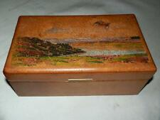 "Superb Hand Leather clad and Painted ""Swaine & Adeney"" Trinket Jewelry Box."