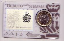 San Marino 1 € stamp&coincard 2012 francobollo 0,85