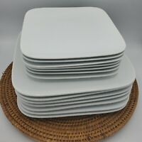 Better Homes and Gardens Solid White Square Dinner & Salad Plate Set 14pcs