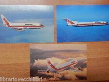 Lotto 3 cartoline AIR PORTUGAL TRISTAR 500 BOEING 737 727 non viaggiate nuove