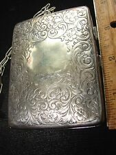 Antique German Silver coin purse- mirror and area for powder- 2 slots for coins