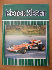 Motor Sport Magazine F1 Sports Road & Historic Cars Issue December 1970 Classic