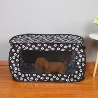 Portable Folding Rectangular Pet Tent Dog House Cage Playpen Puppy Kennel Fence