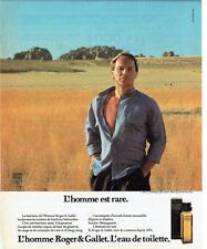 Publicité Advertising 068  1985   eau toilette homme   Roger & Gallet