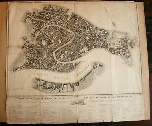 Pianta topografica della città di Venezia Map of Venice pub c 1815