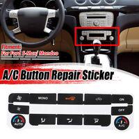 A/C clima controllo pulsante riparazione Sticker adesivi Per Ford S-Max/ Mondeo