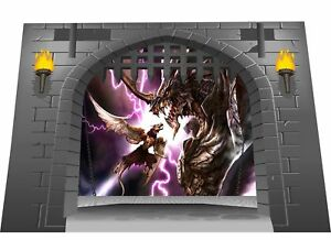 Huge 3D Medieval Castle Gate Dungeon  Dragons View Wall Sticker Mural G sm 8