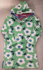 Mini Boden Towelling Swimming Hoodie/dress Age 4-5 Girls Green With Flowers