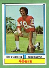 1974 Topps Parker Brothers FB #44 Gene Washington b 49ers 1972 Stats EX