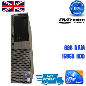 Dell OptiPlex 960 SFF Desktop PC 8GB RAM 160GB HDD Computer Win 10 DVI - DISPLAY
