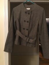 Ann Taylor LOFT Ladies Womens Double Breasted Tweed Jacket Coat Size 8