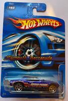 2005 Hotwheels Plymouth Barracuda Stocker, Race Car, Stock Car, Nascar, Mint!