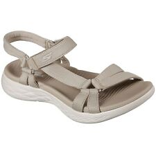 Ladies Skechers On The Go 600 Brilliancy Natural Strap Sandals 15316/NAT