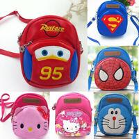 Cartoon Animal Shoulder Handbags Kids Boys Girls Messenger Crossbody PU Bags