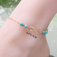 Anklet Gold Foot Chain Ankle Bracelet Boho Women Turquoise Barefoot Sandal Beach