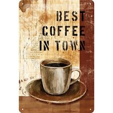 Best Coffee In Town Blechschild 20 X 30 Cm