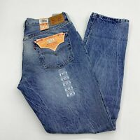 NWT Levi's 501 Denim Jeans Mens 32X32 Blue Straight Leg Original Fit Medium Wash