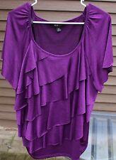 Woman's Purple Blouse by ABG; Size:  2X