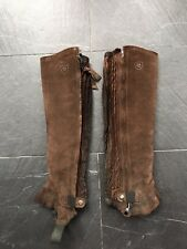 Ariat All Around II Half Chap - Womens Brown Suede