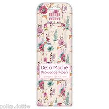 Decoupage Paper 3 Sheets Deco Mache Flowers & Foliage Vintage Floral Designs