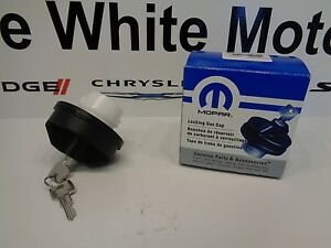 Dodge Chrysler Jeep Ram Fiat New Locking Lock Gas Cap & Keys Mopar Factory Oem