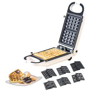 6in1-Snack-Maker, auswechselbare Formen, antihaftbeschichtet, 700 Watt
