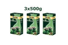 3x Jacobs Kronung Ground Coffee 100% Arabica 500g 18oz