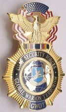 MEMORIAL TRIBUTE USAF SECURITY FORCES GWOT GLOBAL WAR ON TERRORISM POLICE BADGE