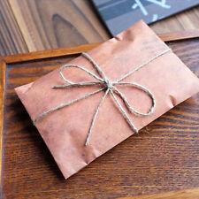 Creative 10Pcs Brown Kraft Paper Envelopes Paper Bag Air Mail New Year Gifts