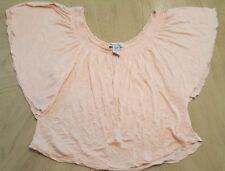 Women's American Rag Short Sleeve Boho Peasant Top Size Small  A2