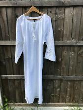 J.crew eyelet details linen/cotton long dress snow white size XL