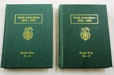 THOMAS South Australians 1836-1885 2 Volumes SA Genealogy Society Hardbacks