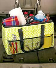 2 in1 Trunk Organizer Cooler Bag Green Geometric & Purple Paisley Polyester Foam