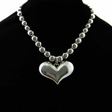 Metal  Pearl Beaded T Bar Fasten Heart Statement Necklace Choker Gift For Her
