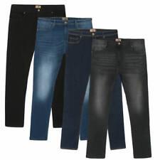 Men's StoneWash Jeans Casual Stretch Fit Pants Slacks Trousers Big & Tall Sizes