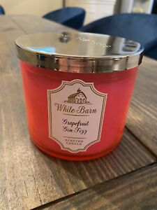 Bath & Body Works Grapefruit & Gin Fizz 3wick 14.5 oz Candle(See details)