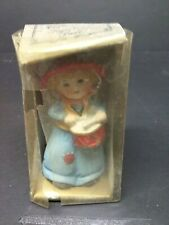Vintage Jasco Bell Figurine Girl Playing Drum 1979