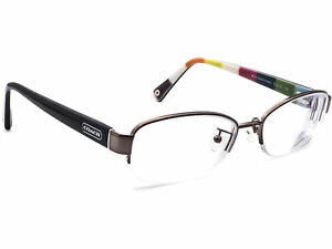Coach Eyeglasses CH 5004 Bettie 9025 Dark Silver Half Rim Frame 51[]16 135
