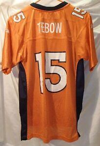 Tim Tebow Denver Broncos Reebok Orange Football Jersey Youth Size Large 14-16